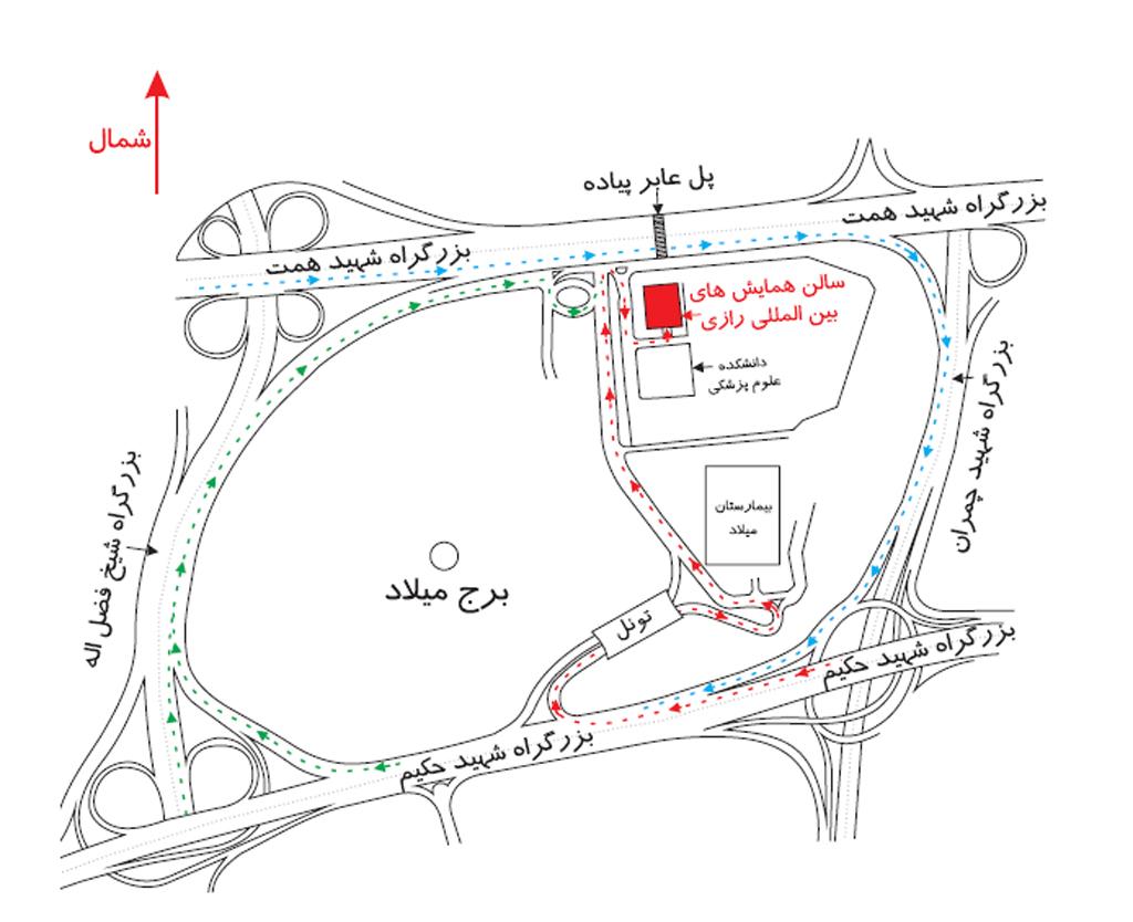 آدرس و کروکی محل برگزاری چهارمین کنگره ملی گیاهان دارویی